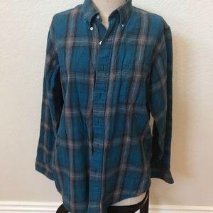 L.L. Bean flannel shirt medium check measurements